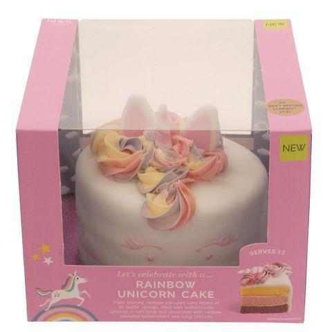 5 Marks Spencer Rainbow Unicorn Cake