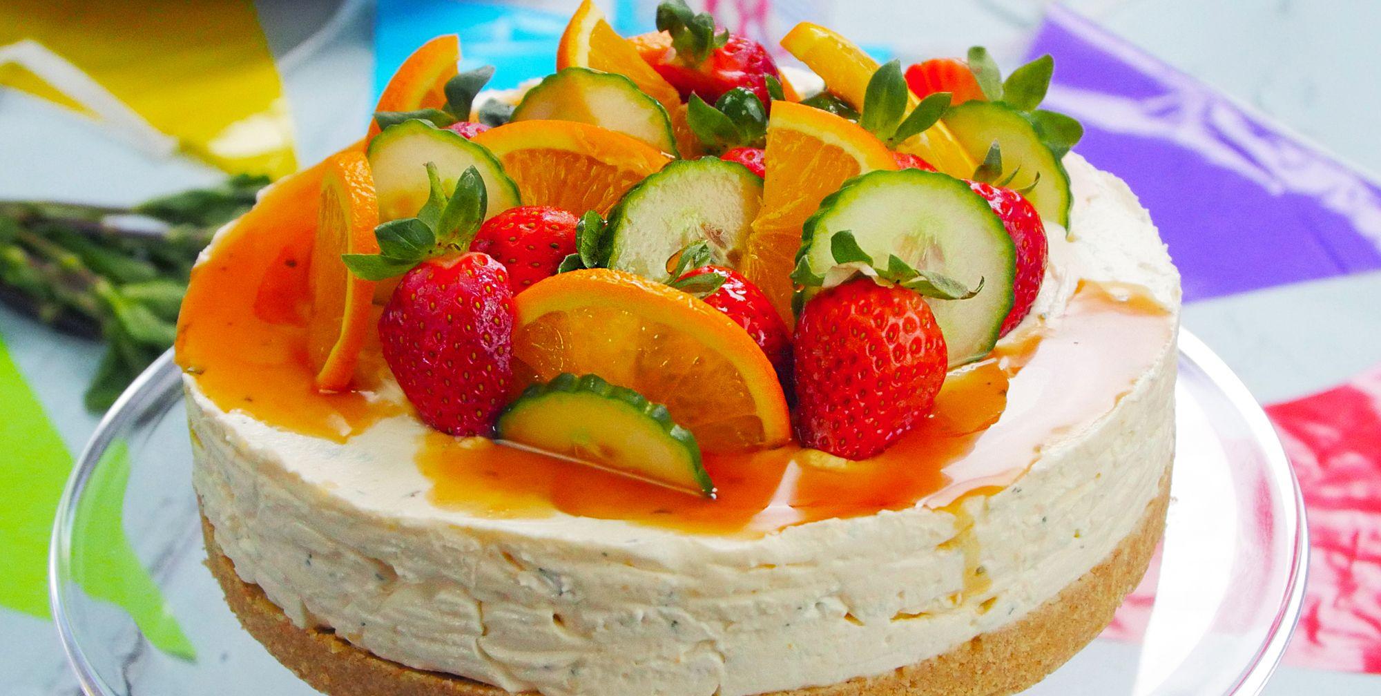 Pimm's cheesecake
