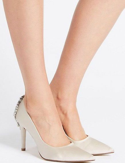 c17ea728bd3 Marks & Spencer is selling white bridal shoes that look like Manolo ...
