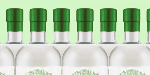Bottle, Drink, Green, Liqueur, Glass bottle, Alcoholic beverage, Distilled beverage, Vodka,