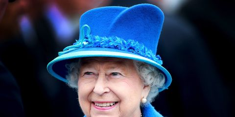 Blue, Hat, Cobalt blue, Fashion accessory, Electric blue, Turquoise, Smile, Headgear, Fun, Fedora,
