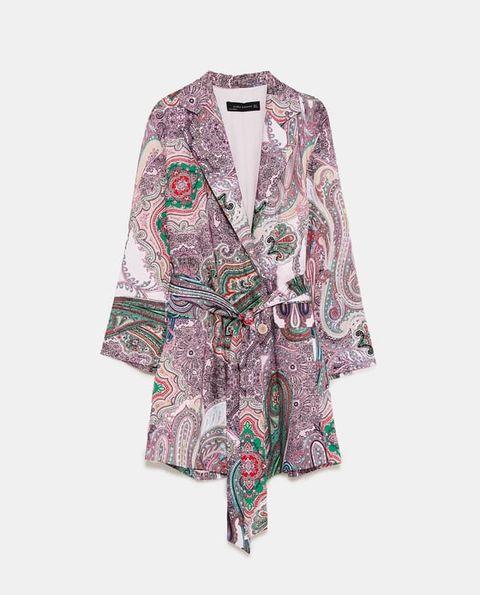 9c63b9e1df BUY NOW  Zara Paisley Print Blazer-Style Dress