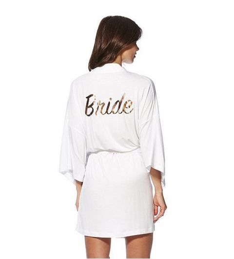 54986090a653 BUY NOW: F&F Bride Foil Slogan Jersey Robe, ...