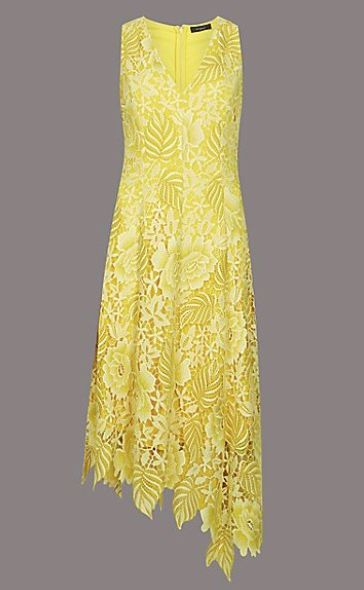 425304d3152e BUY NOW: M&S Floral Lace Asymmetric Maxi Dress, £125