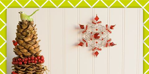 Red, Pattern, Rectangle, Christmas, Ribbon, Christmas decoration, Conifer,