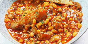 Sausage and baked bean casserole