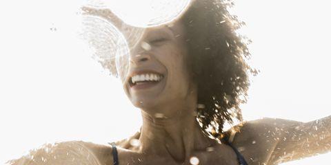 Water, Beauty, Skin, Fun, Smile, Photography, Photo shoot, Sunlight, Happy, Model,