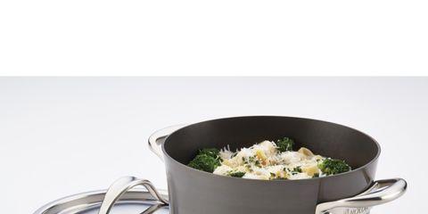 Product, Cookware and bakeware, Food, Dish, Cuisine, Saucepan, Stock pot, Leaf vegetable, Metal, Cruciferous vegetables,