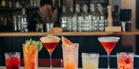 Drink, Classic cocktail, Juice, Alcoholic beverage, Bay breeze, Cocktail, Champagne cocktail, Distilled beverage, Bellini, Non-alcoholic beverage,