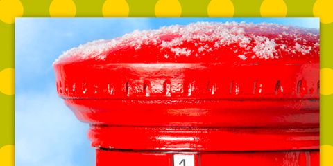 Yellow, Colorfulness, Post box, Red, Line, Rectangle, Mailbox, Coquelicot, Number, Plastic,