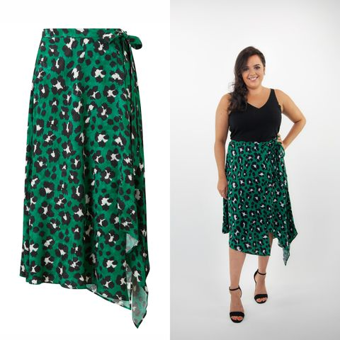 45e77f816cd0 F&F at Tesco Green Leopard Print Skirt, ...