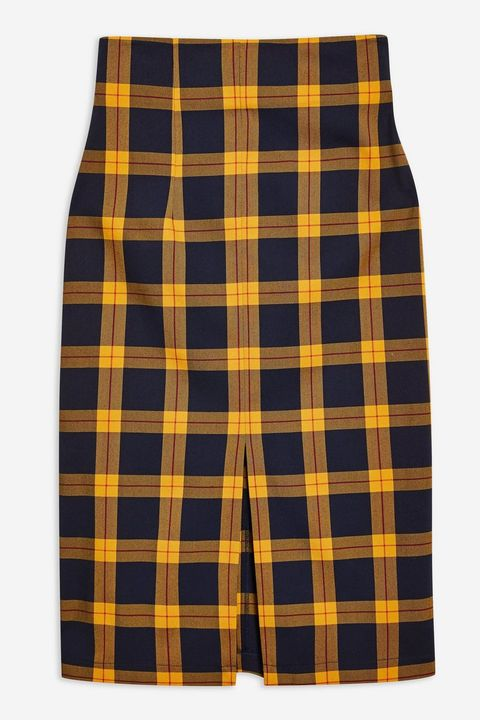 3621b44f76ef Holly Willoughby looks so on-trend in checked Topshop midi skirt