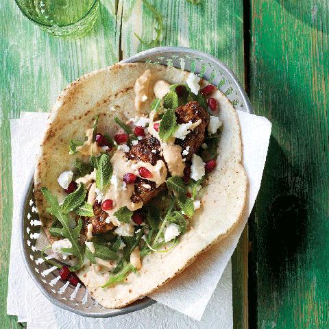Dish, Food, Cuisine, Korean taco, Gringas, Taco, Ingredient, Gyro, Flatbread, Tortilla,