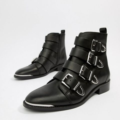 ffc04d988 BUY NOW: Office Archive Four Buckle Black Leather Ankle Boots, ASOS, ...