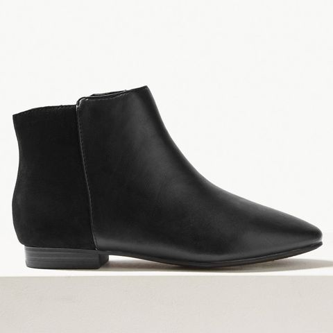 65c2a0d9a BUY NOW: M&S Collection Leather Side Zip Ankle Boots, Marks & Spencer,  £39.50