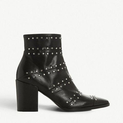 3d492911c BUY NOW: Dune Parlour Studded Leather Ankle Boots, Selfridges, £195