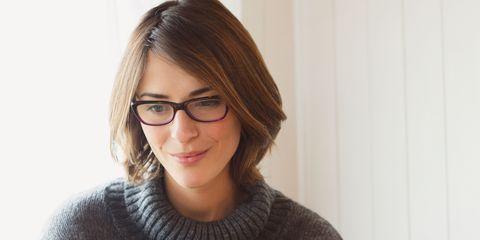 Glasses, Sitting, Job, Laptop, Desk, Electronic device, Neck, White-collar worker, Employment, Eyewear,