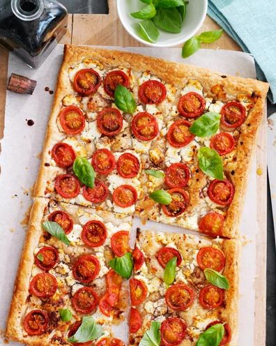 best vegetarian recipes cherry tomato and goat's cheese tart