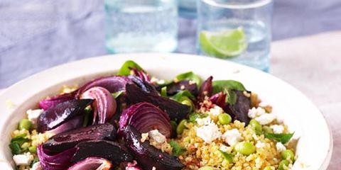 Food, Ingredient, Produce, Tableware, Salad, Dishware, Vegetable, Cutlery, Leaf vegetable, Kitchen utensil,