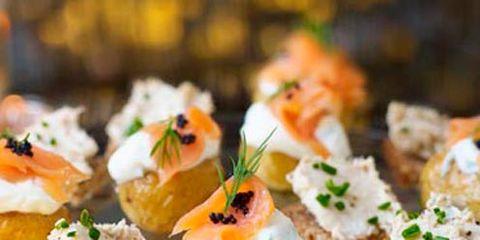 Food, Finger food, Cuisine, Ingredient, Dish, Canapé, Recipe, Serveware, Garnish, appetizer,