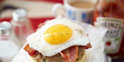 Serveware, Egg yolk, Food, Dishware, Ingredient, Cuisine, Fried egg, Egg white, Meal, Dish,