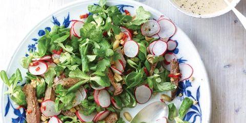 Dishware, Serveware, Food, Salad, Cuisine, Ingredient, Tableware, Leaf vegetable, Vegetable, Porcelain,