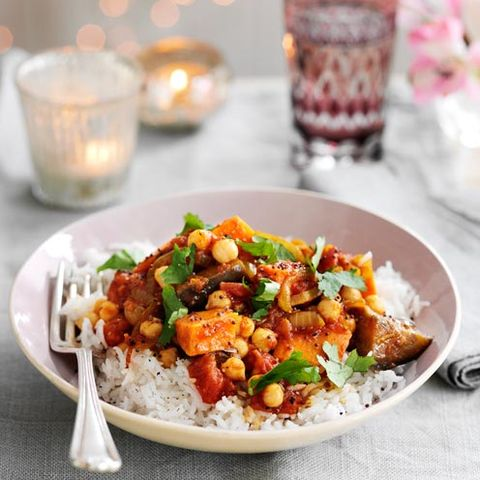 best sweet potato recipes aubergine, chickpea and sweet potato curry