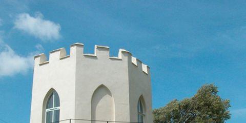 Property, Architecture, Real estate, Land lot, Facade, Composite material, Concrete, Lawn, Villa, Yard,