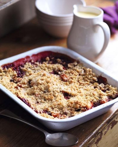 best crumble recipes plum and apple crumble