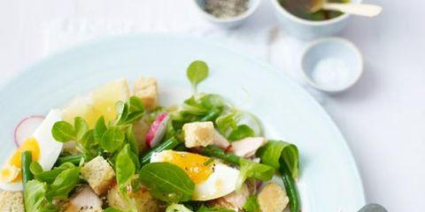 Food, Dishware, Ingredient, Serveware, Tableware, Cuisine, Leaf vegetable, Kitchen utensil, Egg yolk, Produce,
