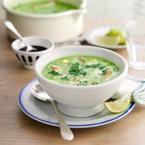 Green, Serveware, Dishware, Food, Cuisine, Ingredient, Drinkware, Tableware, Dish, Porcelain,