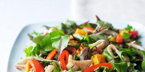 Food, Salad, Cuisine, Vegetable, Ingredient, Produce, Dishware, Leaf vegetable, Garden salad, Recipe,