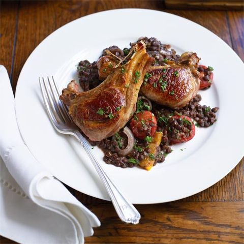 best lamb recipes lamb with red wine and lentils