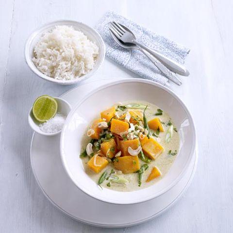 thai green pumpkin curry