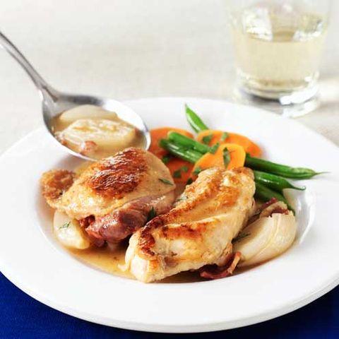 Chicken and white wine casserole