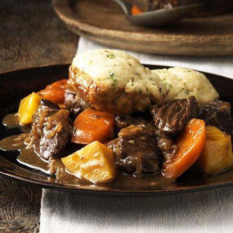 Beef stew with Scarborough Fair dumplings