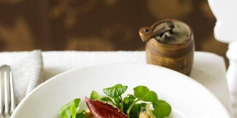Serveware, Dishware, Food, Ingredient, Leaf vegetable, Cuisine, Tableware, Dish, Kitchen utensil, Cutlery,
