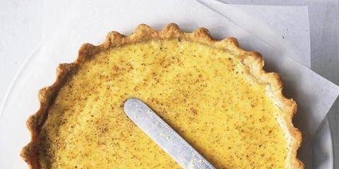 Food, Yellow, Tableware, Sugar pie, Recipe, Dessert, Ingredient, Dish, Cuisine, Plate,