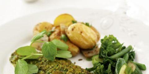 Food, Cuisine, Ingredient, Dishware, Plate, Tableware, Leaf vegetable, Fines herbes, Serveware, Dish,