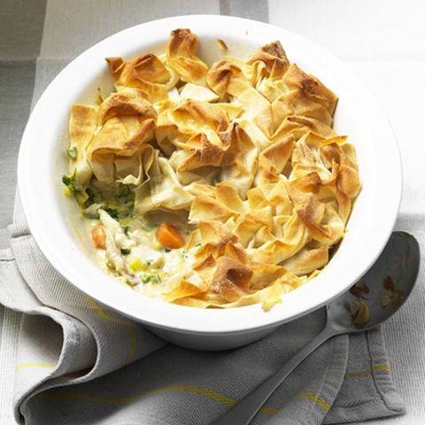 best chicken pie recipes chicken and leek filo pie