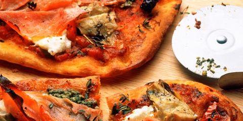 Food, Finger food, Cuisine, Dish, Baked goods, Ingredient, Recipe, Pizza, Plate, Dishware,