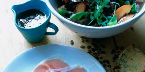 Food, Prosciutto, Ingredient, Cuisine, Bayonne ham, Meat, Salt-cured meat, Dishware, Animal product, Dish,