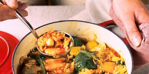 Food, Cuisine, Serveware, Tableware, Dish, Dishware, Recipe, Bowl, Stew, Meal,
