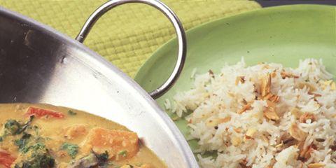 Food, Cuisine, Ingredient, Rice, Dish, Steamed rice, Dishware, Recipe, Serveware, Tableware,
