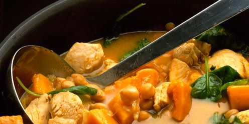 Moroccan Chicken Squash And Chickpea Stew