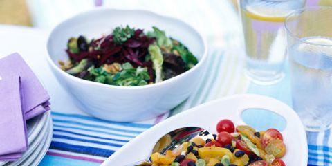 Food, Cuisine, Dishware, Produce, Tableware, Serveware, Glass, Ingredient, Fruit salad, Drinkware,