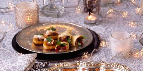 Food, Cuisine, Serveware, Finger food, Dishware, Dish, Tableware, Table, Meal, Plate,
