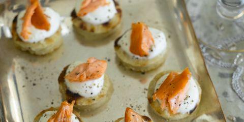 Food, Finger food, Cuisine, Serveware, Ingredient, Dishware, Canapé, Orange, Dish, Tableware,
