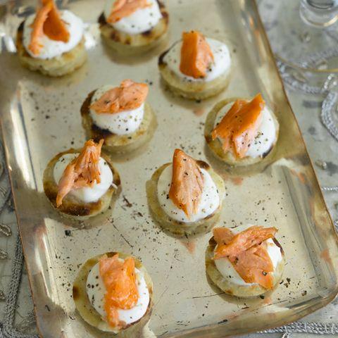 baby smoked salmon potato cakes