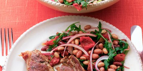 Food, Dishware, Beef, Tableware, Meat, Ingredient, Pork, Kitchen utensil, Plate, Cutlery,